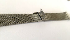HADLEY VINTAGE SILVER TONE MESH MANS WATCH BAND ST STEEL 19mm New Old Stock