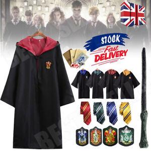 Harry Potter Gryffindor Cape Cloak Tie Cosplay Party Costume COS Xmas Halloween