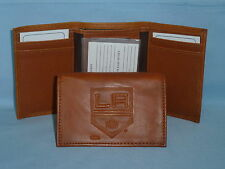 LOS ANGELES KINGS   Leather TriFold Wallet    NEW    brown 2 w