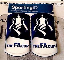2014-15 English FA CUP Football PS-Pro SportingiD Soccer Badge Patch Set(2pcs)