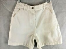 Christopher & Banks White Carpenter Shorts Size 6 Cotton Waist 28