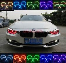 4pcs RGB Angel Eyes Crystal Multi-Color LED Light DRL For BMW 3 Series F30 F35