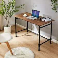 Home Office Study&Writing Metal Wood Desk Modern Style Computer Laptop Table