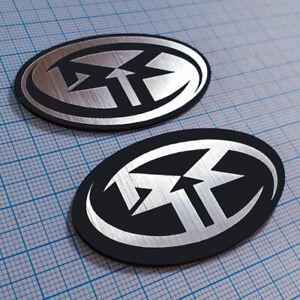 2pcs Rockford Fosgate Metallic Badge Sticker Emblem Replacement
