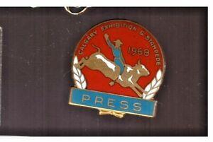 Calgary Stampede 1968 PRESS pin - NICE !!!