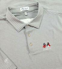 Peter Millar Summer Comfort Polo Shirt Adult XL Gray Stripe Men Short Sleeve