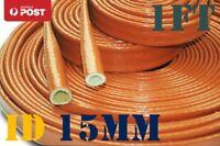 "15MM (3/8"") Fire Sleeve Braid Flame Heat Shield Fit AN6 AN8 Fuel Hose - 1FT"