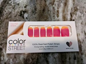 Color Street Cabana Girl Nail Polish Strips Retired Unicorn Resealed Partial Set