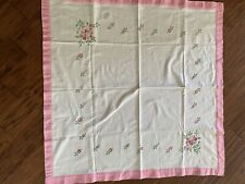 "Vintage Tablecloth 42"" x 43"""