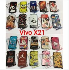 Vivo X21 2in1 rubber side case with tempered - ONE PIECE