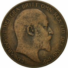 [#546258] Coin, Great Britain, Edward VII, Penny, 1905, VF(20-25), Bronze