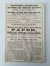 1867 New York Seneca Falls Stevens & Sheffer Auctioneers Advertisement Ad Paper