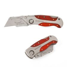 Heavy Duty Pipe Cutter Stainless Steel Utility Knife with Red Rosewood Handle