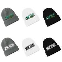 Anime One Piece Skullies Knitted Hat Winter Hat Embroidery Knitted Beanie Cap
