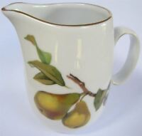 Royal Worcester Evesham milk jug 10.5cm pear & peach (vintage)