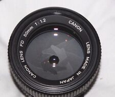Canon FD 50mm f1.2 Fast Prime Lens  Mint Condition