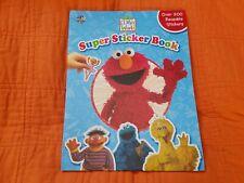 Elmo's World Super Sticker Book (Sesame Street) ~ Over 200 Reusable Stickers*