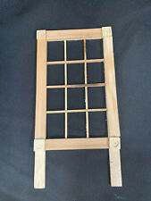 Set of 6 Wood Wooden 12 Pane Light Windows for Dollhouse and Crafts