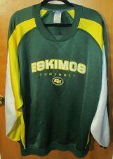 Reebok CFL Edmonton Eskimos Embroidered Men's Colorblock Sweatshirt XL