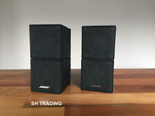 2 X BOSE BLACK JEWEL DOUBLE CUBE LIFESTYLE ACCOUSTIMASS SPEAKERS 5 10 28 38 48