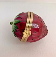 "Tiffany & Co - Limoges France - Peint Mein ""Strawberry"" Trinket / Ring Box"