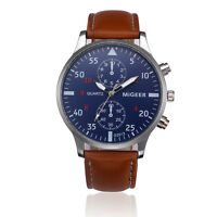 Togex cool synthetic leather wide band quartz watch wrist watches for men boy ebay for Dovoda watches