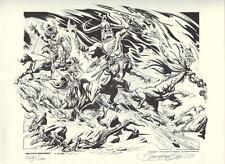 The FOUR HORSEMEN S / # Ltd Ed PRINT Nat'l Cartoonists Society Portfolio HOGARTH