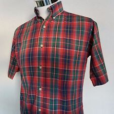 Pen West by Pendleton Country Traditionals Short Sleeve Shirt Plaid Red