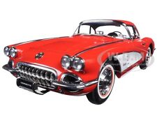 1958 CHEVROLET CORVETTE SIGNET RED 1:18 DIECAST MODEL CAR BY AUTOART 71148