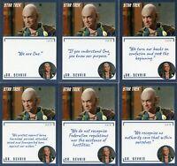 Star Trek TOS Archives & Inscriptions card #90 Dr Sevrin all 18 different Var