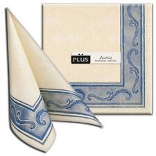 50 Airlaid Servietten 40x40 dunkelblau stoffähnlich Stoffoptik Ornament Hochzeit