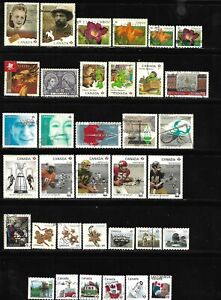 Canada year 2012 all different used stamps off paper #5