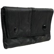 Soft Black Lined Leather Sheep Nappa Tobacco Pouch Rizla Pocket Great value