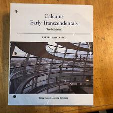 Calculus Early Transcendentals (Drexel University,ISBN: 978-1-118-82793-2)