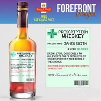 Personalised Prescription whiskey spoof bottle label, Birthday/Wedding/ Gift