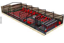 8,000 sqft Commercial Trampoline Park Dodgeball Rock Wall Gym Ninja We Finance