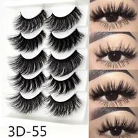 5 Pairs 3D Mink False Eyelashes Hot Sale Wispy Cross Fake Eye Lashes K01 K1K0
