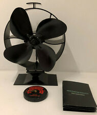 Heat Powered Stove Fan, For Radiant Wood Fires & Stoves, Improves Heat Flow