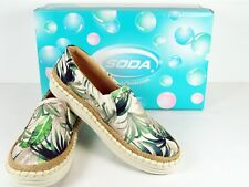 Slip On Canvas Low Top Sneakers Tropical Fashion Flats Rope Trim NIB Size 6