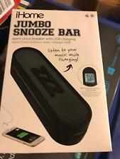 iHome  Jumbo Snooze Bar Alarm Clock with USB Charging