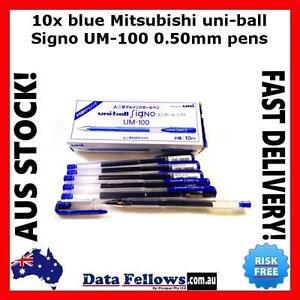 Mitsubishi Pen uniball 10x blue uni-ball Signo UM-100 0.50 mm UM100 stationery