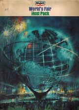 Mobil Oil Co. Host Pack 1964 1965 New York NY World's Fair Unisphere Six Items