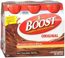 BOOST Nutritional Energy Drinks Chocolate 48 oz (Pack of 2)