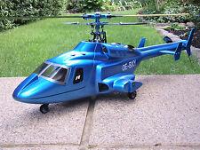 Bell 222/Airwolf/Metallic Bleu Incl. 450er mécanique-RTF avec émetteur