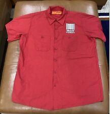 Slipknot Work Shirt 2000 Red Kap Short Sleeve Maggot Size XL