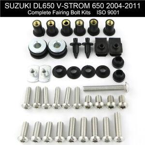 For Suzuki TL1000R TL1000S Vstrom 1000 650 SV1000 SV650 Fairing Bolt Screw Kit