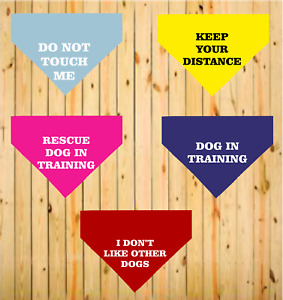Safety Aware Warning  Awareness Personalised Printed Quality Dog Pet Tie Bandana