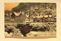 Großbritannien England UK AK Pont Y Pair Bettws Y Coed 1912 Street Houses Winter