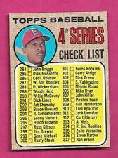 1968 TOPPS # 278 UNMARKED BASEBALL CHECKLIST NRMT-MT  CARD (INV# A9513)
