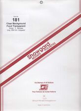 Showgard Clear Stamp Mount Strips 181 264 mm For US Sheets Calder All Aboard New